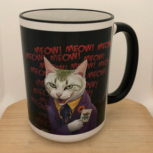 Joker Cat 15 oz coffee mug