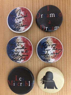 Les Miserables Inspired Button Set