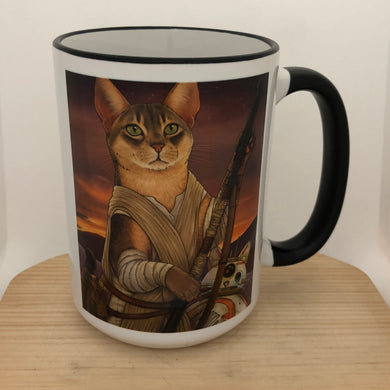 Meow The Force Be With You 15 oz coffee mug