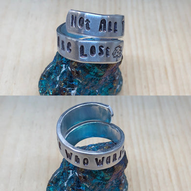 Not All Those Who Wander Are Lost Ring