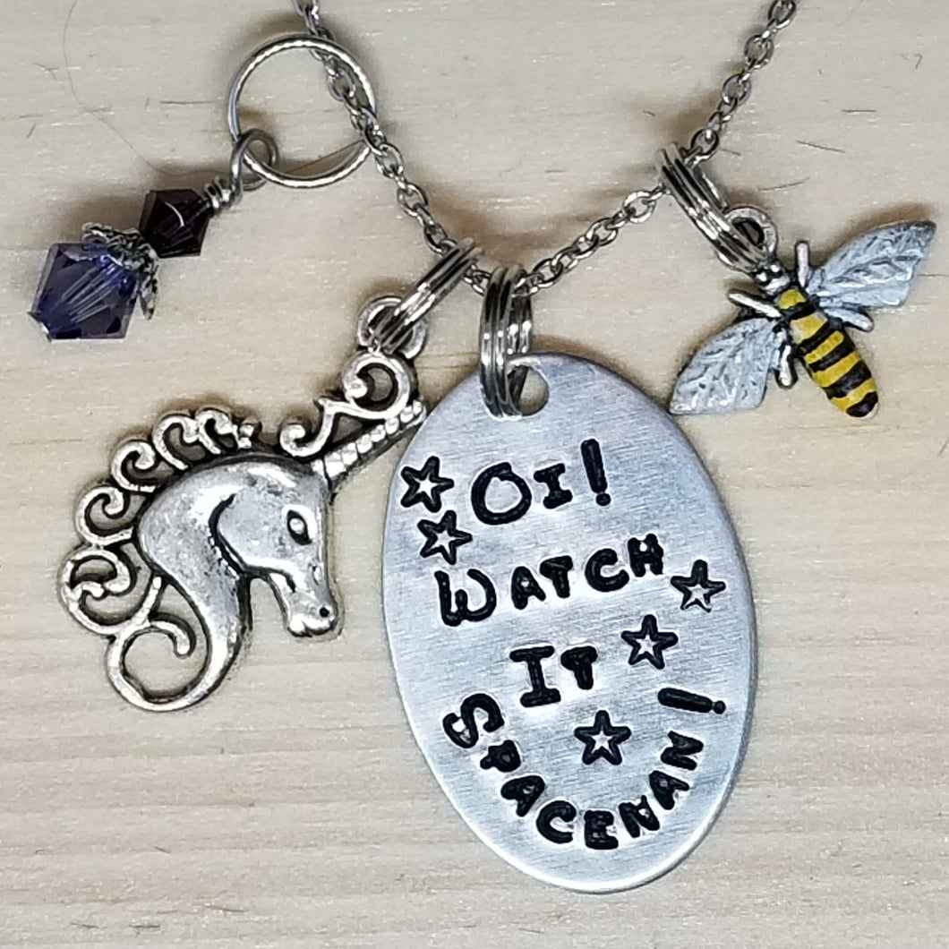 Oi! Watch it Spaceman! - Charm Necklace