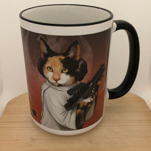 Purrincess Leia 15 oz coffee mug