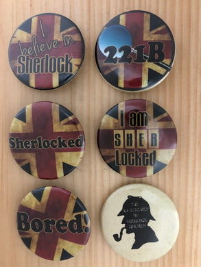 Sherlock Inspired Button Set