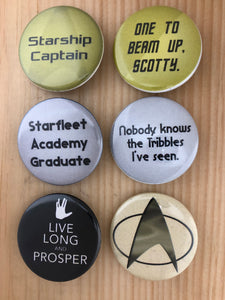 Star Trek Inspired Button Set
