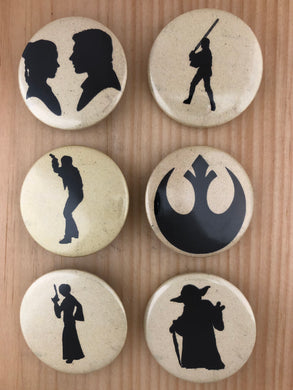 Star Wars Inspired Silhouette Button Set