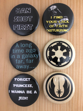 Star Wars Inspired Button Set