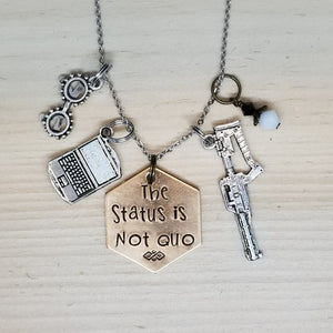 The Status Is Not Quo - Charm Necklace