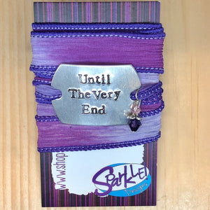 Until The Very End silk wrap bracelet