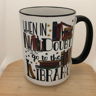 Library quote - Hermione/Harry Potter inspired mug