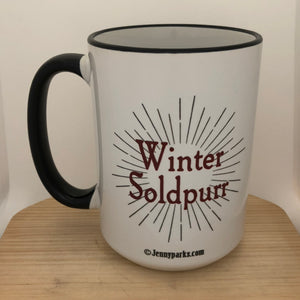 Winter Soldpurr 15 oz coffee mug