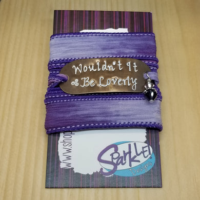 Wouldn't It Be Loverly silk wrap bracelet