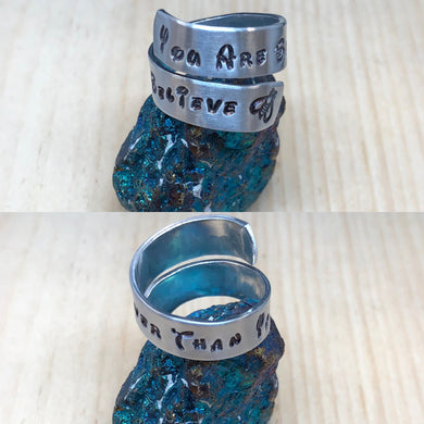 You Are Braver Than You Believe Ring