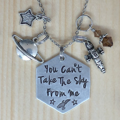 You Can't Take The Sky From Me - Charm Necklace