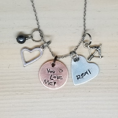 You Love Me/Real Charm Necklace