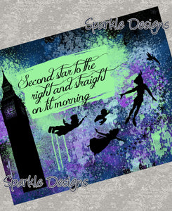 Second star to the right - Peter Pan 18 Art Print
