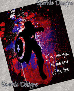 I'm with you 'till the end of the line - Captain America 108 Art Print