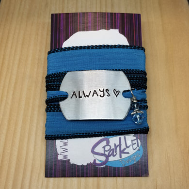 Always silk wrap bracelet