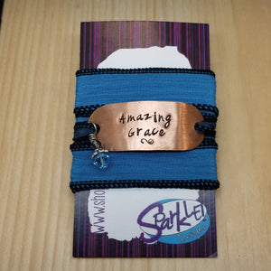 Amazing Grace silk wrap bracelet