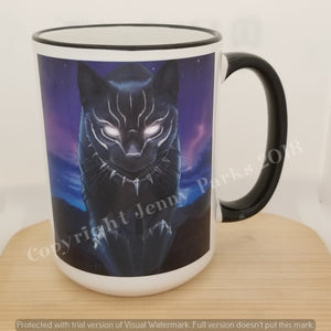 Black Panther 15 oz coffee mug