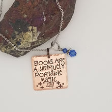 Books Are A Uniquely Portable Magic - Pendant Necklace