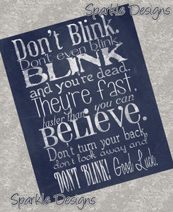 Don't Blink - Doctor Who  3  Print *Retired*