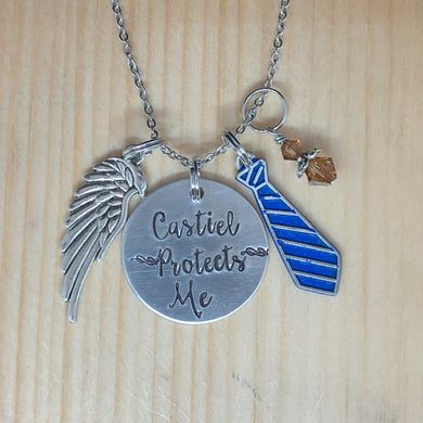 Castiel Protects Me - Charm Necklace