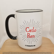 Catlo Ren 15 oz coffee mug