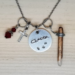 Chosen with a Stake - Charm Necklace