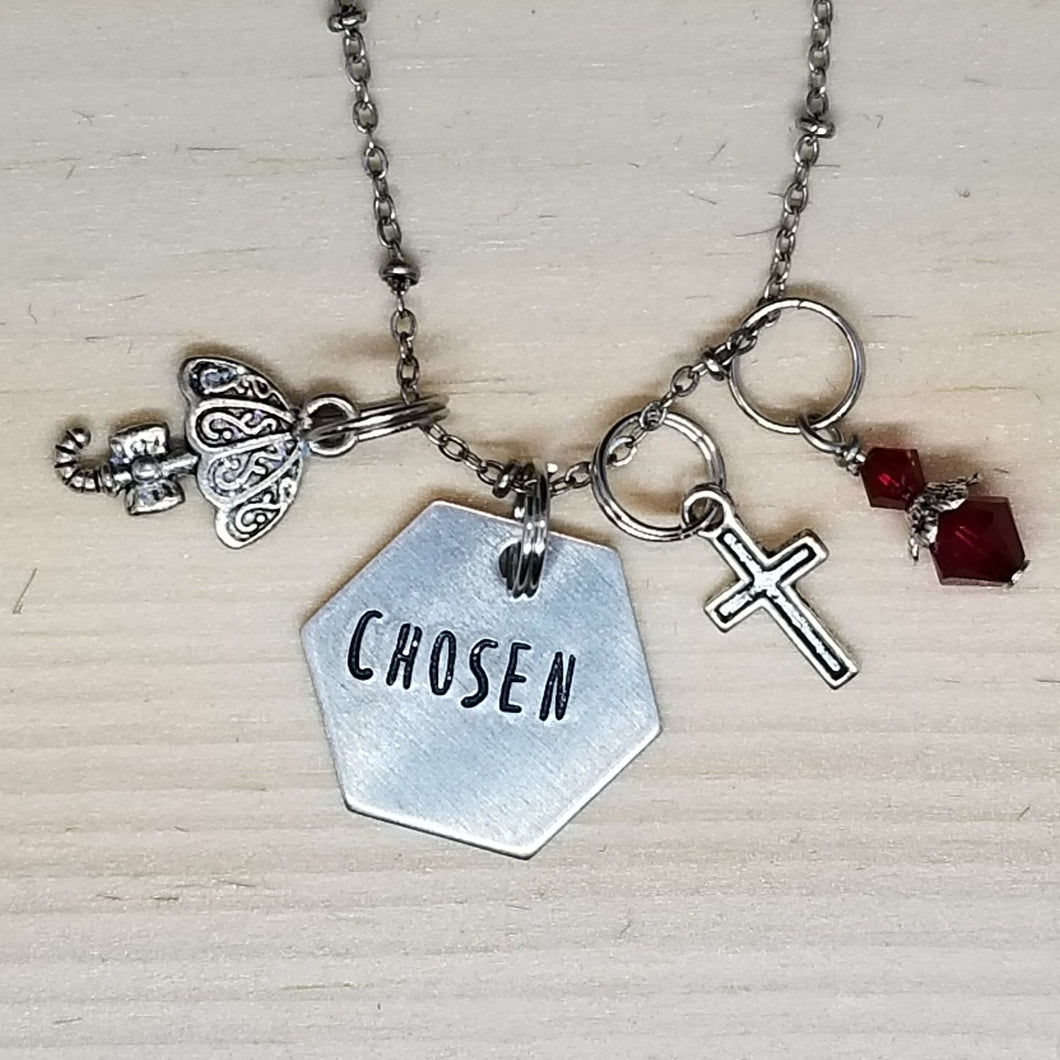 Chosen with an Umbrella - Charm Necklace
