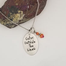 Color Outside The Lines - Pendant Necklace