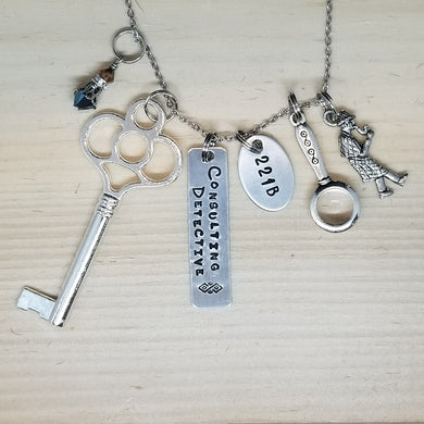 221B Consulting Detective Charm Necklace