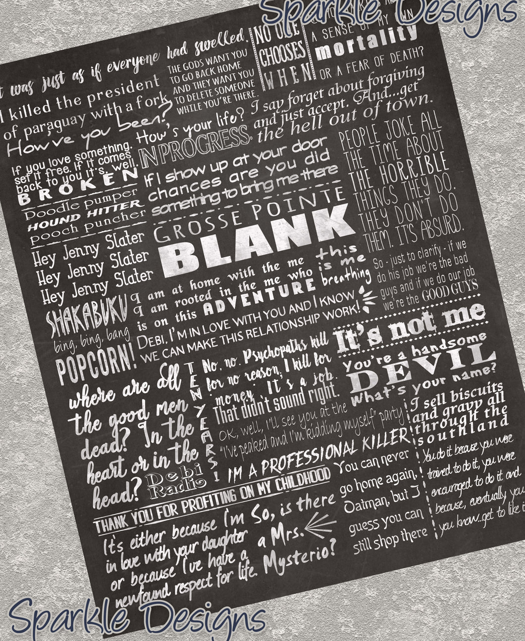 Grosse Pointe Blank Quotes 127 Art Print