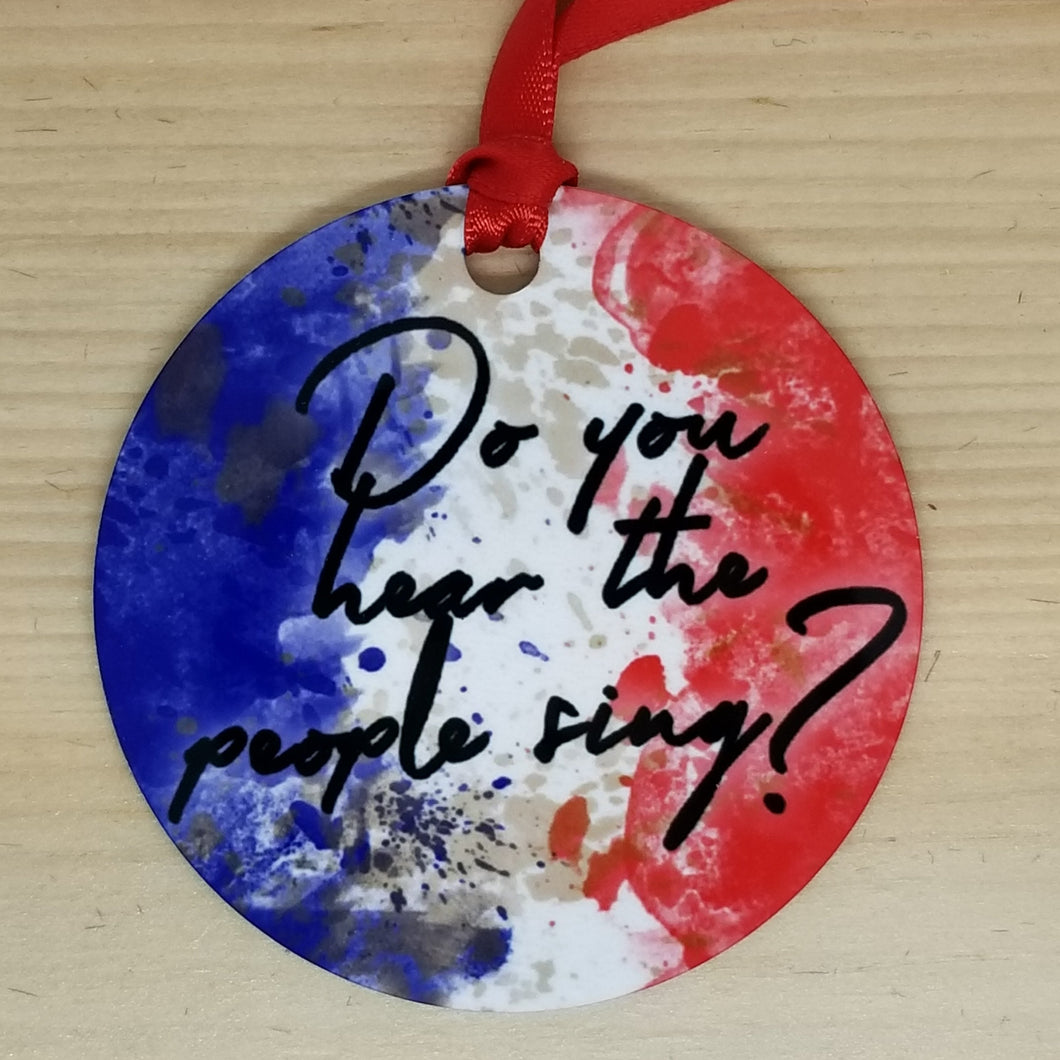 Porcelain ornament - Les Miserables inspired - Do you hear the people sing?
