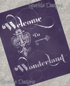 Welcome to Wonderland 102 Art Print