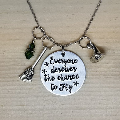 Everyone Deserves The Chance To Fly - Charm Necklace