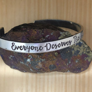 Everyone Deserves The Chance To Fly Cuff Bracelet
