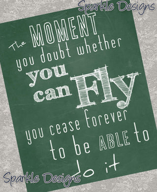 The moment you doubt you can fly - Peter Pan 15  Magnet