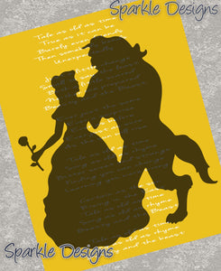 Tale as old as time lyrics - Belle / Beauty & the Beast 20 Art Print