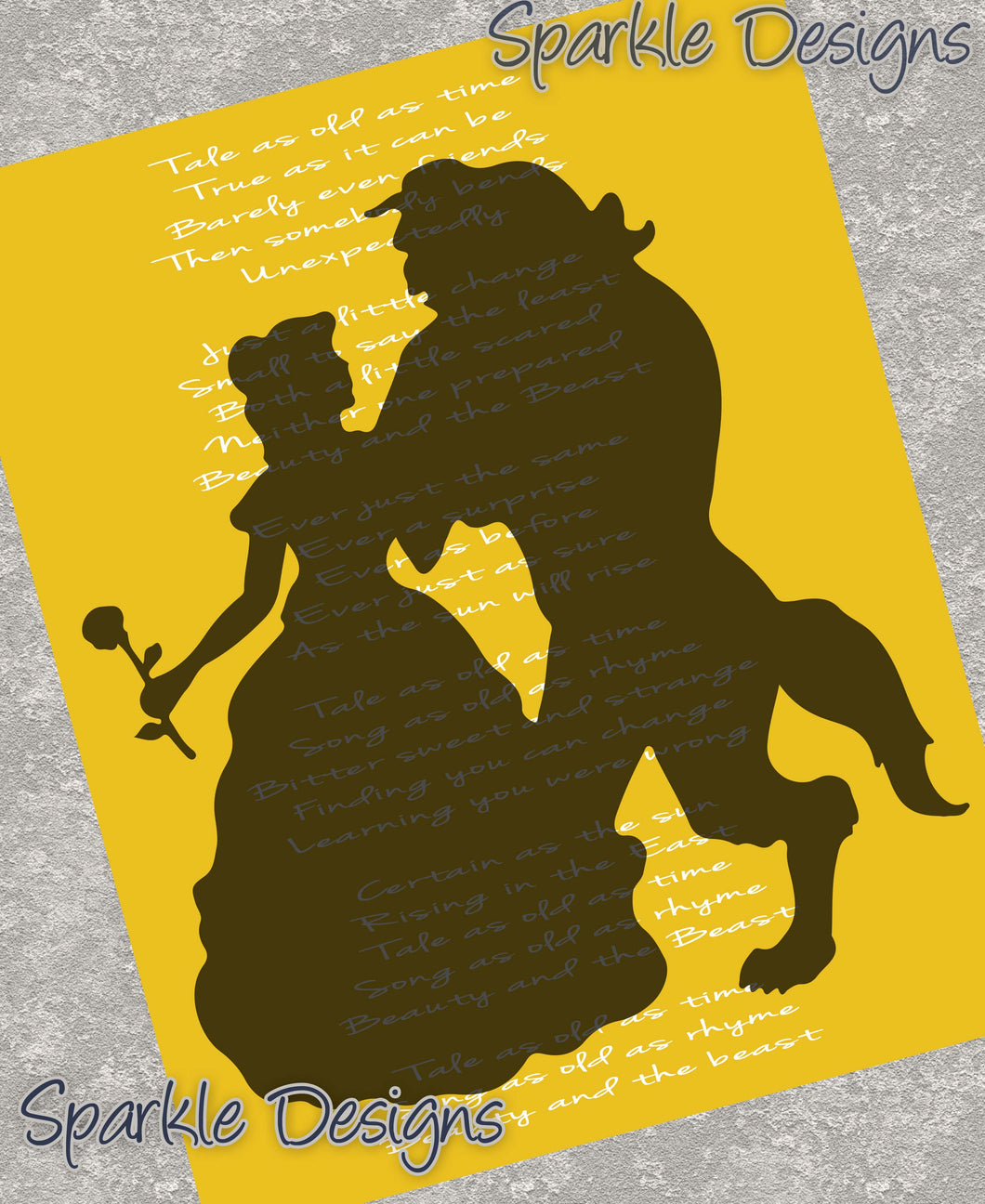 Tale as old as time lyrics - Belle / Beauty & the Beast 20 Magnet
