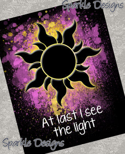 At last I see the light - Tangled 78 Art Print