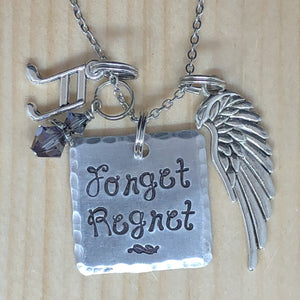 Forget Regret- Charm Necklace