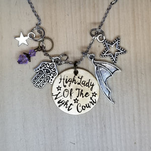 High Lady Of The Night Court - Charm Necklace