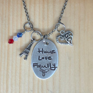 Home Love Family - Charm Necklace