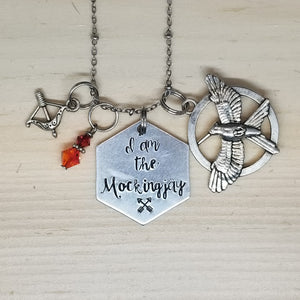 I Am The Mockingjay - Charm Necklace