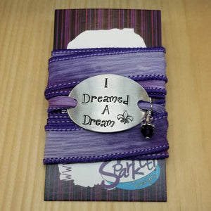 I Dreamed A Dream silk wrap bracelet