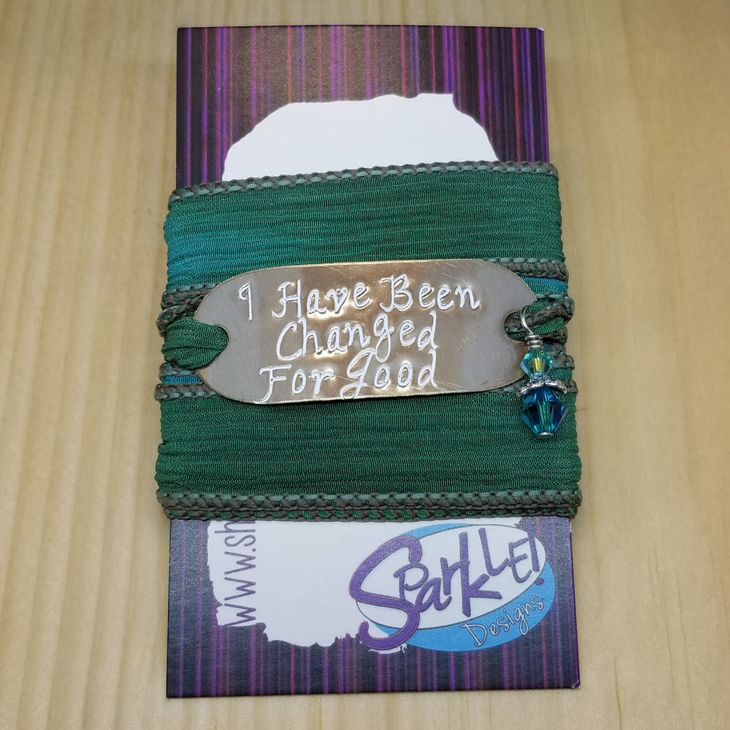 I Have Been Changed For Good silk wrap bracelet