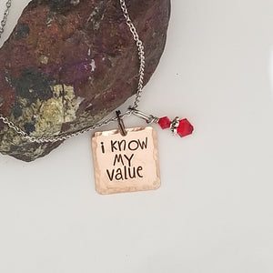 I Know My Value - Pendant Necklace