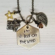 I'm A Leaf On The Wind - Charm Necklace
