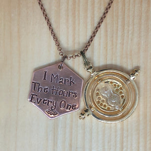I Mark The Hours Every One - Charm Necklace