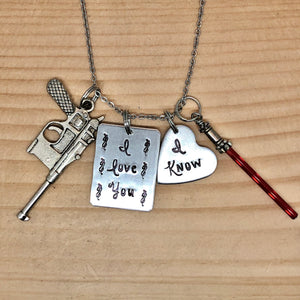 I Love You/I Know Charm Necklace